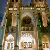 Nat'l Cathedral-Facade at Night