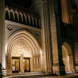 Nat'l Cathedral-Entrance at Night