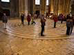 Walking the Chartres labyrinth (Image source unknown)