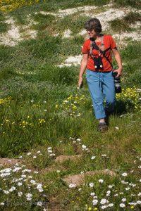 Julie Zickefoose Amid Flowers