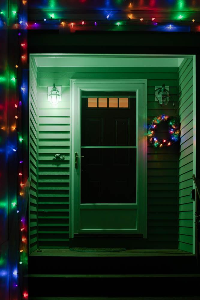 Winter Doorway-Framed