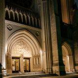 Nat'l Cathedral-Entrance at Night